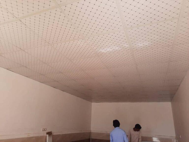 گزارش طرح یاری تکمیل سقف کلاسهای مدرسه زهک