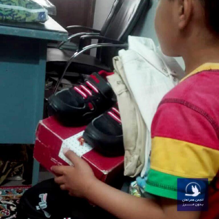 گزارش طرح یاری خرید کفش عید برای کودکان بی سرپرست و بدسرپرست بروجرد